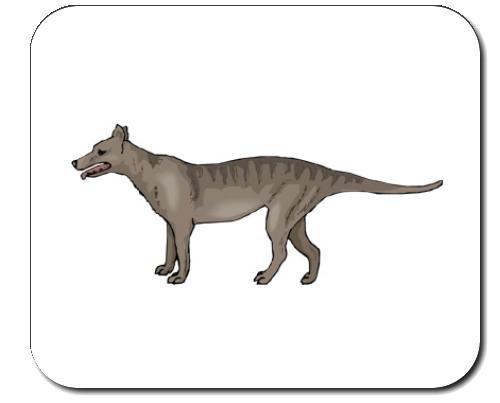 """Tappetino per mouse decorato con l' immagine di: Australia, """"Tasmanian Tiger"""", """","""" Tasmanian Wolf Extinct, Thylacine, Animal, marsupiale"""