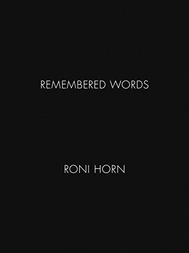 Roni Horn: Remembered Words par Roni Horn