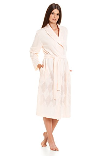Langer Frauen-Bademantel / Klassisches Design / höchste Qualität / RE-620 Hellrosa / lachsfarbe