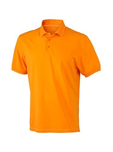 Men's Elastic Polo im digatex-package Orange