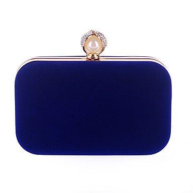 pwne L. In West Wome Der Eleganten Pearl Samtstoff Abend Tasche Blue