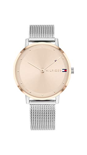 Tommy Hilfiger Damen Analog Quarz Uhr mit Edelstahl Armband 1782151 - Uhren Movado Damen
