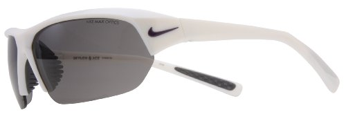 Nike SKYLON ACE Sonnenbrille, Unisex Damen, White Purple Iridescent (Purple Swoosh) Frame