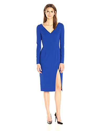 Black Halo Gilda Damen Kleid mit Langen Ärmeln - Blau - 34 (Gilda Kleid)