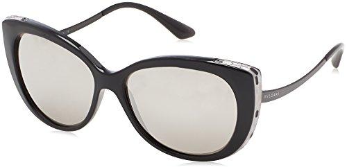 Bulgari Damen 0Bv8178 901/6G 57 Sonnenbrille, Schwarz (Black/Grey),