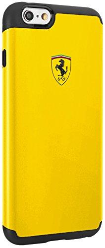 Ferrari FESPHCP6BK Shockproof Case 2 Parts für Apple iPhone 6/6S schwarz gelb
