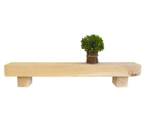Funky Chunky Furniture 8X4 Solid Oak Block Support Shelf / Shelves / Mantel / Reclaimed / Floating Length: 130Cm English Oak