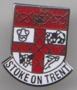 Le Trent Staffordshire Stoke City Crest de Badge broche
