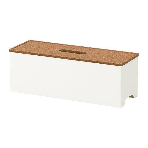 Ikea Kvissle Boîte De Gestion Des Câbles Liège Blanc