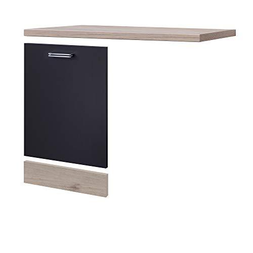 MMR Möbelumbau-Set Küche LONDON - für vollintegrierten Geschirrspüler - Breite 110 cm - Anthrazit
