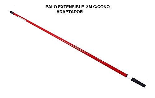 Palo mango telescópico. Extensible hasta 2 metros