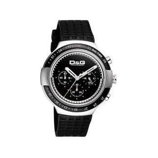 Dolce & Gabbana – Reloj de Caballero de Cuarzo, Correa de Goma Color Negro