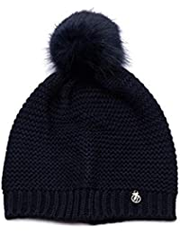 Trussardi Jeans Women s Hat Knitted Pon Ecofur Beanie 1ce740c70ee2