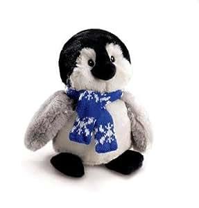 Russ Berrie 8 PINGOUIN de la peluche PUFFSICLE de pouce avec l'écharpe bleue
