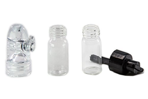 Snuff Glass Spoon Top Combo - Vial With Spoon Top and Snuff
