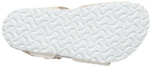 Birkenstock Rio, Sandales Fille Blanc Cassé (Shiny Snake Cream)
