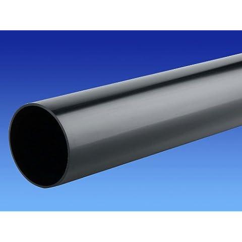 Marley, 32 mm x 100 mm, colore: nero, con Push-fit-Tubo di scarico