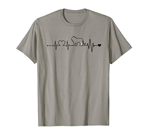 HERZSCHLAG LÖWE Heartbeat Lion haertbeat König Tiere T-Shirt (König Der Löwen T Shirt Kinder)