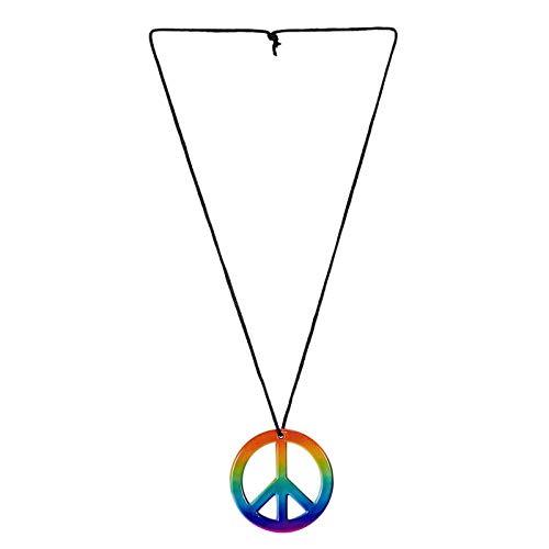 PARTY DISCOUNT Kette Regenbogen Peace-Symbol