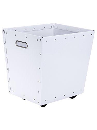 Bigso Box of Sweden 859129001 Bac de Rangement à Roulette Panneau de Fibre Blanc 37,5 x 29,5 x 36,5 cm