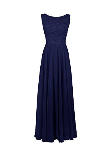 Dresstells, robe de cérémonie, robe longue de demoiselle d'honneur Marine
