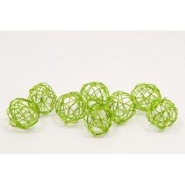 Boule déco métal dia. 2cm (x 12) - Vert anis