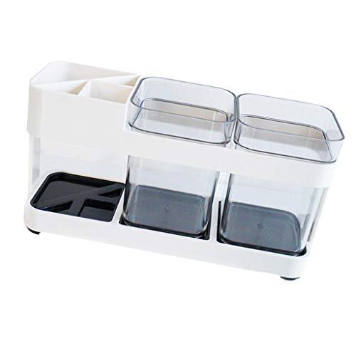 Baoblaze Etui Plastique Brosse à Dents Dentifrice Organiseur Douche Stand Transportable
