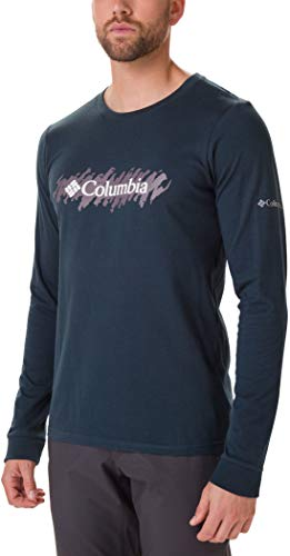 Columbia Lodge Langarm Graphic T-Shirt Herren Night Shadow/Squiggle Größe XL 2019 Langarmshirt - Shadow Langarm-shirt