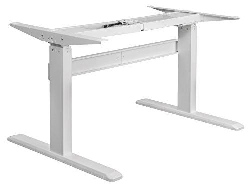 Exeta Elektrisch höhenverstellbarer Schreibtisch (Vers. 2019) mit 2 Motoren, 3-fach-Teleskop,Memory-Funkt. und Softstart/-Stopp, elektrisch höhenverstellbares Tischgestell - für gängige Tischplatten -