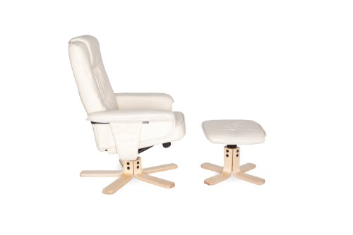 Amstyle Comfort Relaxsessel mit Hocker - 22