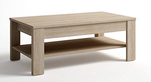 PEGANE Table Basse relevable chêne, L 110 x P 60 x H 42 à 55 cm