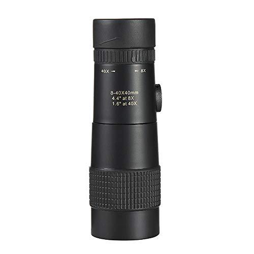 AIYASHIWEI Himmelsfernrohr Monocular High-Definition-Multi-Time-Zoom 8-40x40 Outdoor-Low-Light-Nachtsicht-Handy-Kamera Brille Brille mit Ständer Unterstützung Video wasserdicht -