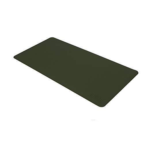 Festnight BUBM PU-Leder-Schutz-Auflage-Mausunterlage-Schreibtisch-Schreibens-wasserdichtes Antiöl für Büro und Haus (Grün u. Grau, M)