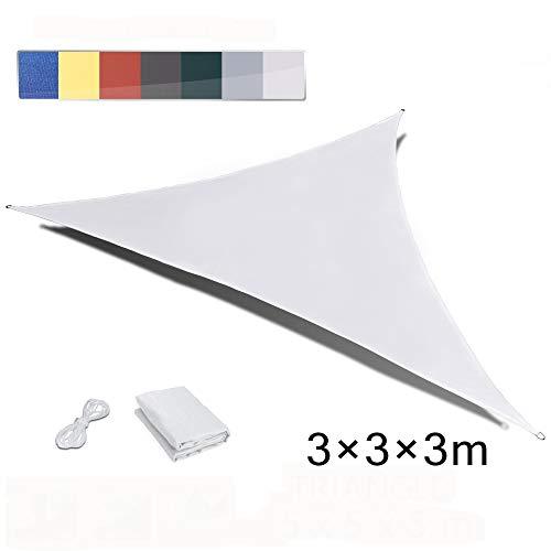 LOVE STORY Triangolo 3 x 3 x 3m Creme Tenda da Sole Vele Parasole UV Impermeabile per Giardino Esterno