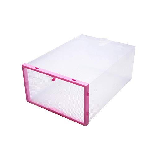 tianyixinshengwukejiyou 4/10 große transparente Schuhkiste Schublade faltbar Home Storage Organizer stapelbar, 10 Stück