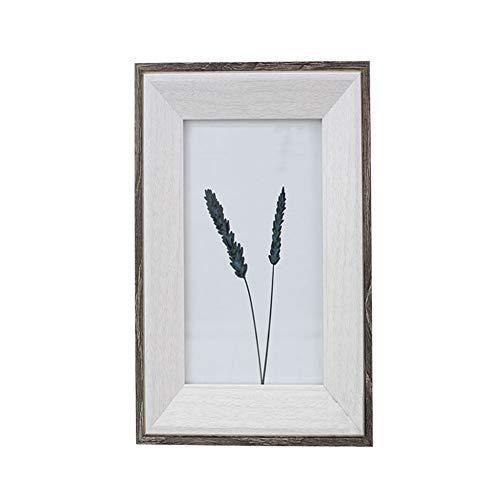 ERMEI Weißer Fotorahmen - Wandmontierter Posterrahmen/1 Packung3 Stück/12.5 * 17.5 * 2cm (7 Zoll) 5 x 7 Zoll/Bilderrahmen aus Holz