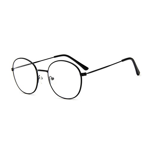 sunbo-round-metal-frame-clear-lens-cute-retro-geek-fashion-clean-lens-glasses-specs-black