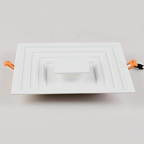 Modenny 6W12W LED Panel Downlight Square Ultra Slim Deckeneinbauleuchten Scheinwerfer Kabinett-Leuchte Blendschutz Panel Downlamp für Mall Exhibition Hall Museum (Color : White Light, Größe : 6w)