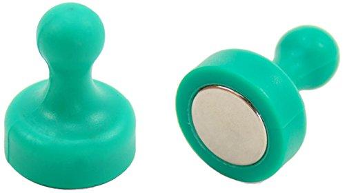 First4magnets F4MSGHP-2 Hohe Power Skittle Magnet, Büro und Kühlschrank, 2 Stück, Metall, grün, 19 mm Durchmesser x 25 mm hoch