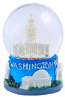 lobe - 45MM Capitol Small, Washington D.C. Snow Globes, Washington DC Souvenirs, 2.5 Inches Tall by Great Places To You ()