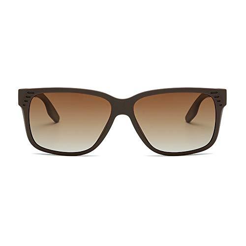 Große polarisierte Sonnenbrille Frauen Männer übergroße Rahmen mit 100% UVA UVB-Schutz Sonnenbrille MDYHJDHHX (Color : Braun, Size : Kostenlos)