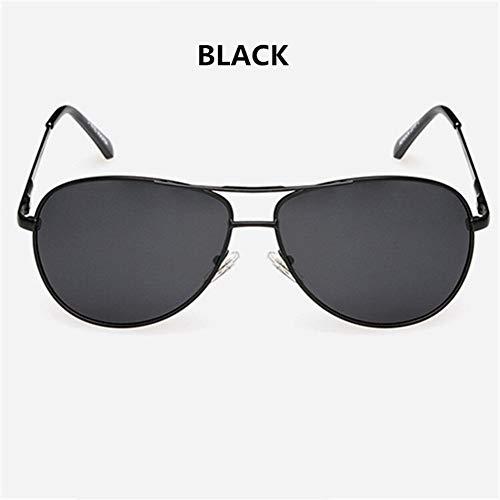 XIAOXINGXING Marke Polarisierte Sonnenbrille Männer Frauen Driving Driver Sonnenbrille Vintage Rechteck Anti-UV-Brille Brillen (Frame Color : Multi, Lenses Color : Black)