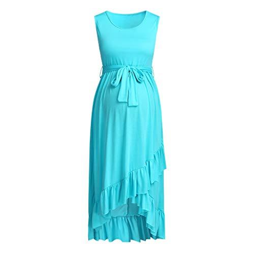 DIPOLA Damen Schwangere Frauen Armellose Unregelmäßigen Rock Einfarbig Umstandskleid Maxi-Kleid Umstandsmode Damen Schwangerschaft Bauchband Schwangerschaft Hosenerweiterung Für Schwangere