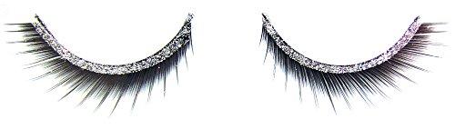 Künstliche Wimpern Glitter Stripes Silber