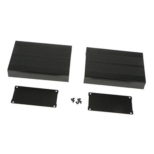 MagiDeal Schwarz-Aluminium-Projekt Gehäuse Elektronik- Project Box PCB Box Gehäuse (Elektronik-gehäuse)