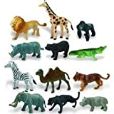 Best Animals - NSinc-24 Piece Mini Jungle Animals Toys Set, Wild Review
