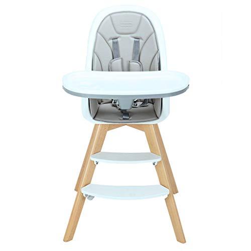 LJM- Kinder Multifunktions-Esszimmerstuhl, Tragbare Baby-Essecke Massivholz Esszimmerstuhl