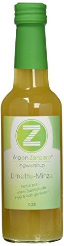 AlpenZenzero Ingwersirup - Limette/Minze, 250 ml