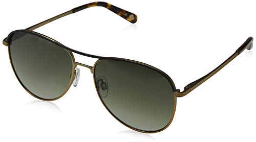 Ted Baker Herren Tate Sonnenbrille, Gold (Matt Copper/Green), 56.0