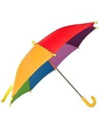 Mountain Warehouse Rainbow Parapluie d'arc-en-ciel des enfants- amusement et parapluie coloré du soleil de tissu d'arc-en-ciel, parapluie facile de pluie de soin